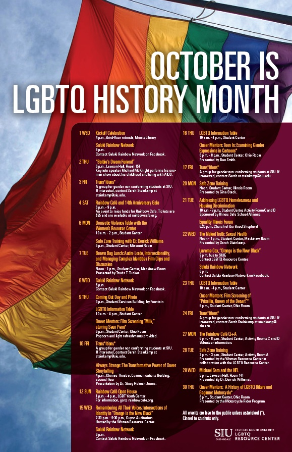 LGBTQ History Month poster